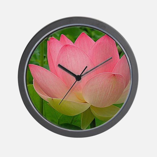 Sacred Lotus Flower Wall Clock