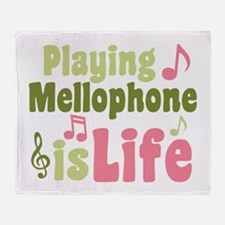 Playing Mellophone is Life Throw Blanket