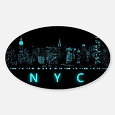 Digital Cityscape: New York City, N Decal