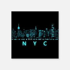"""Digital Cityscape: New York Square Sticker 3"""" x 3"""""""