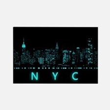 Digital Cityscape: New York City, Rectangle Magnet