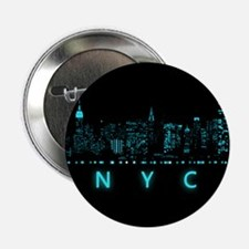 """Digital Cityscape: New York 2.25"""" Button (10 pack)"""