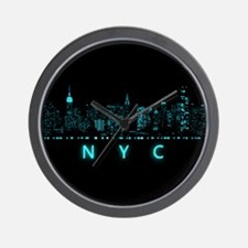 Digital Cityscape: New York City, New Y Wall Clock