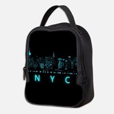 Digital Cityscape: New York Cit Neoprene Lunch Bag