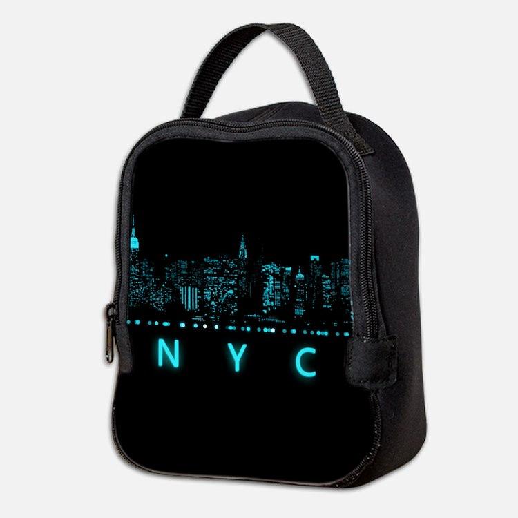 Digital Cityscape: New York Cit Neoprene Lunch Bag