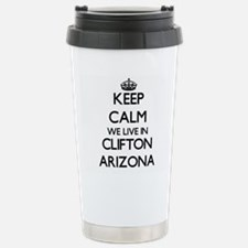 Keep calm we live in Cl Stainless Steel Travel Mug