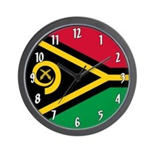 Flag of Vanuatu Wall Clock