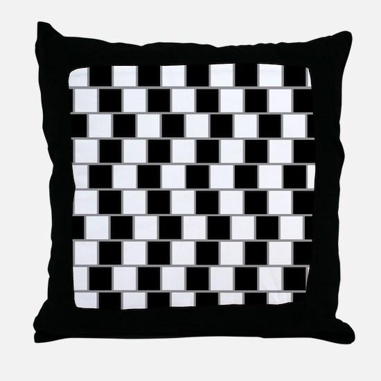 Cafe Wall optical illusion Throw Pillow