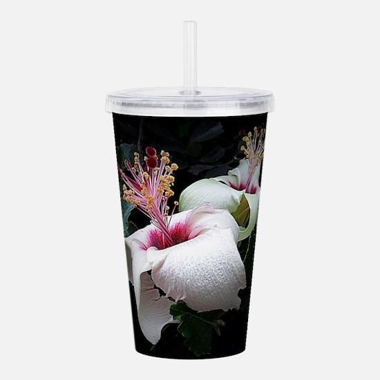 Hibiscus Glory Acrylic Double-wall Tumbler