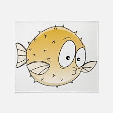blowfish Throw Blanket