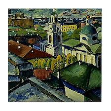 Mashkov - View of Moscow, Myasnitsky  Tile Coaster