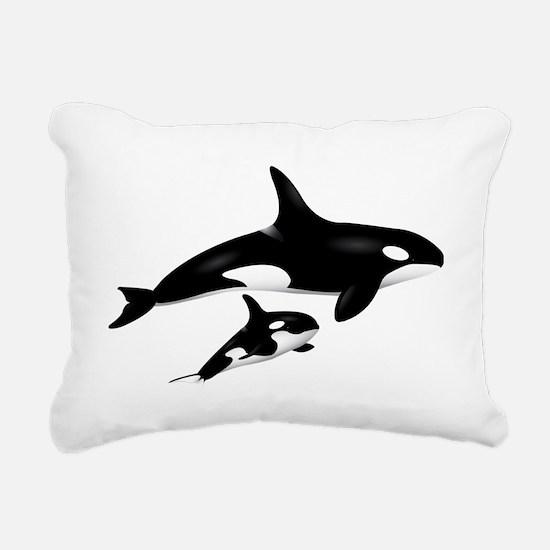 orca Rectangular Canvas Pillow