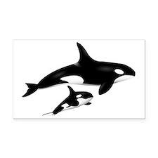 orca Rectangle Car Magnet