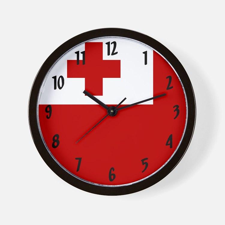 Flag of Tonga Wall Clock