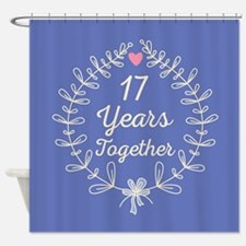 17th Wedding Anniversary Shower Curtain