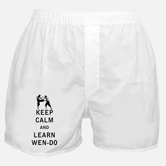Keep Calm and Learn Wen-Do Boxer Shorts