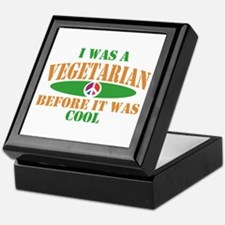 I Was A Vegetarian Before It Was Cool Keepsake Box