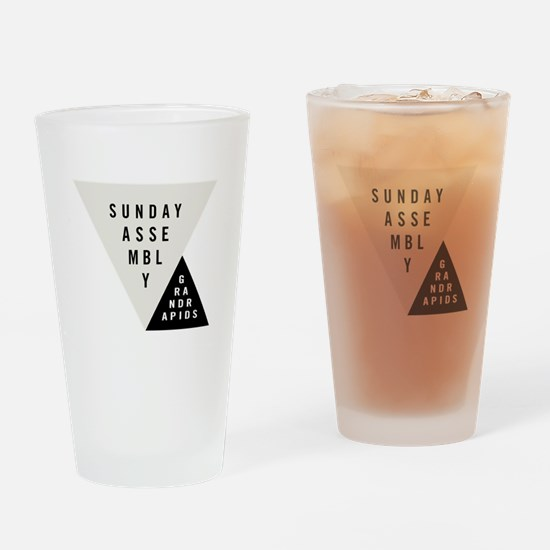 SAGR Gray and Black 01 Drinking Glass