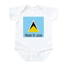 Proudly St Lucian Infant Bodysuit