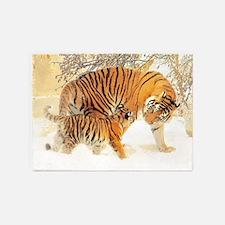 Tiger_2015_0127 5'x7'Area Rug