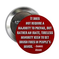 Sam Adams Tireless Minority Button