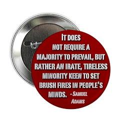 Sam Adams Tireless Minority Button