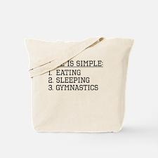 Life Is Simple: Gymnastics Tote Bag
