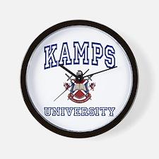 KAMPS University Wall Clock