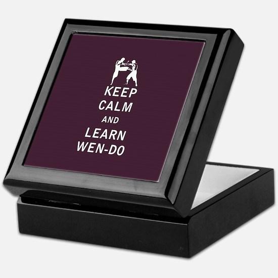 Keep Calm and Learn Wen-Do Keepsake Box