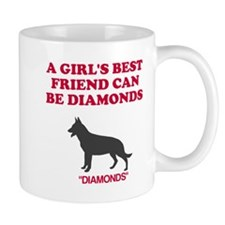Diamonds a girl's best friend Mug