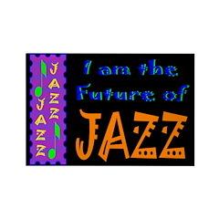 Future of Jazz Dark Rectangle Magnet (100 pack)