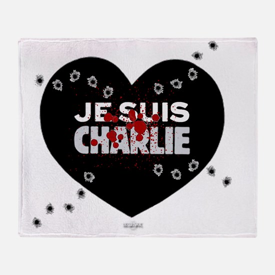 Je suis Charlie by Bluesax Throw Blanket