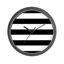 Chic Black and White Stripes Wall Clock