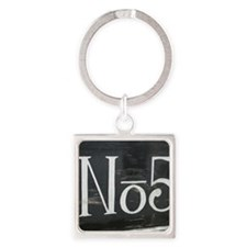 Old Number 5 Square Keychain