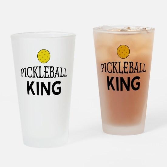 Pickleball King Drinking Glass