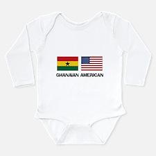 Cute Ghana Long Sleeve Infant Bodysuit