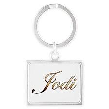 Gold Jodi Keychains