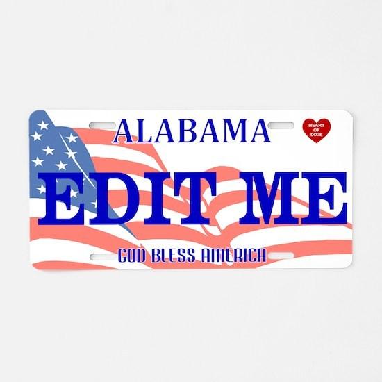 Alabama - God Bless America Aluminum License Plate