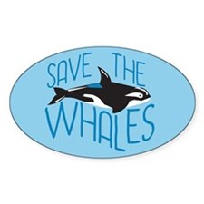 Cool Save whales Decal