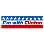I'm With Clinton Bumper Sticker