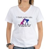 Bicurious Womens V-Neck T-shirts