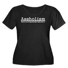 Assholism White Plus Size T-Shirt