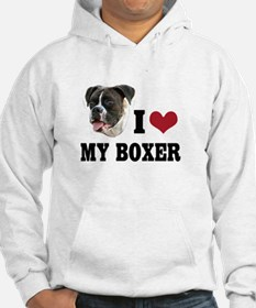I Heart my Boxer Hoodie