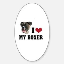 I Heart my Boxer Decal
