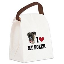I Heart my Boxer Canvas Lunch Bag