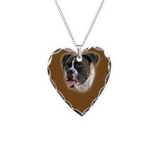 Brindle Boxer Portrait Necklace