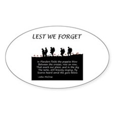 WWI Remembrance Decal