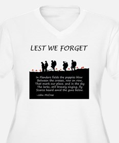 WWI Remembrance Plus Size T-Shirt