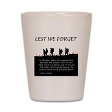 WWI Remembrance Shot Glass