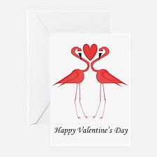 Valentine Flamingo Greeting Cards (Pk of 20)